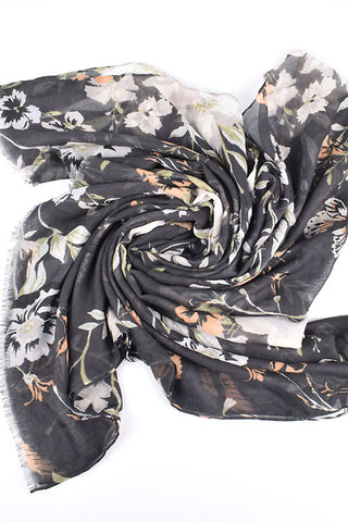 Forest Flowers Scarf Shawl