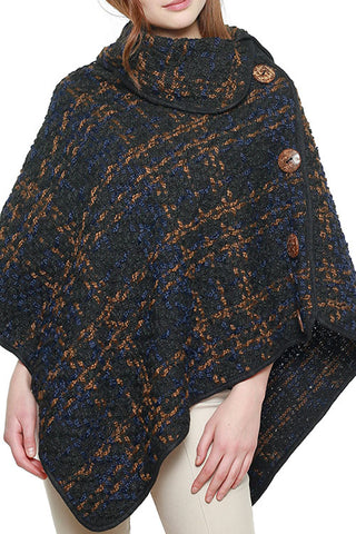 PATTERNED WOVEN PONCHO
