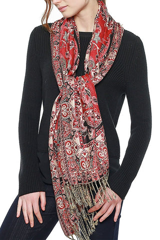 BIG PAISLEY COTTON SCARF