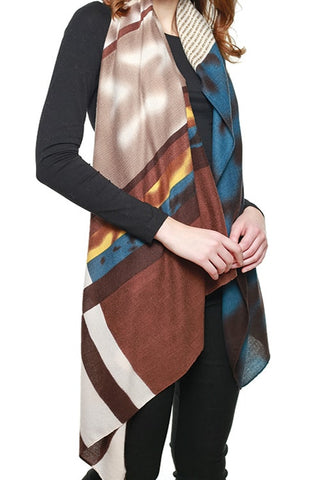 (12PCS) MULTI COLOR BLOCK SCARF