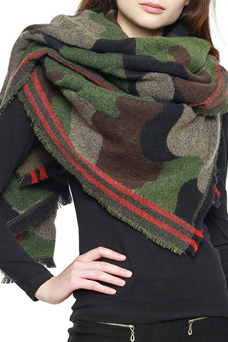 Camouflage Over sized scarf