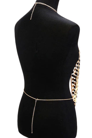 Multi Metal Fringe Armor Body Chain
