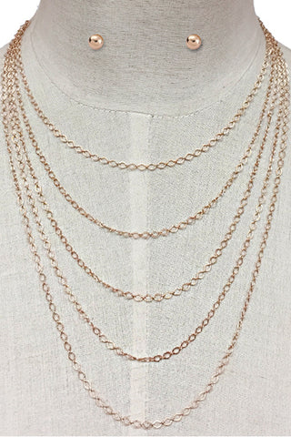 (3PCS) Chain Layered Necklace Set