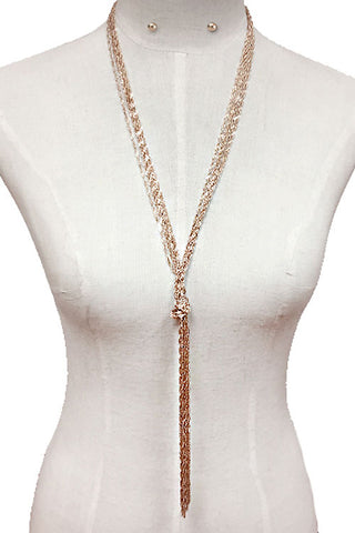Chain Knot Necklace Set