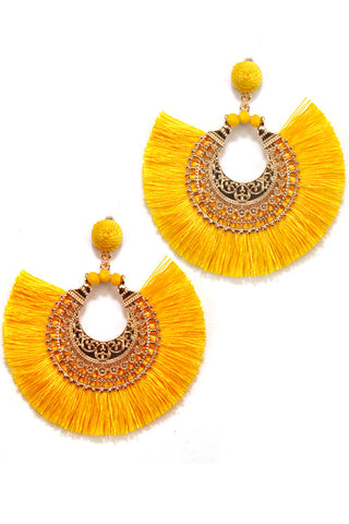 Tassel Fashion Drop Post Earrings