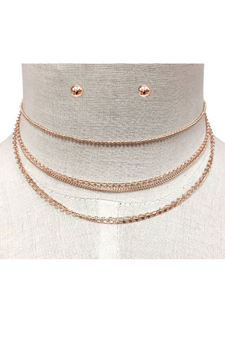 Multi Layered Chain Choker Necklace