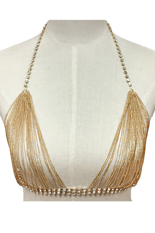 (3PCS) Chunky Bralette Body Chain