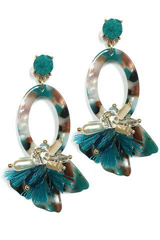(3PCS) Tassel Drop Post Earrings