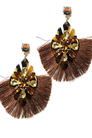 (11PCS) Tassel Drop Post Earrings