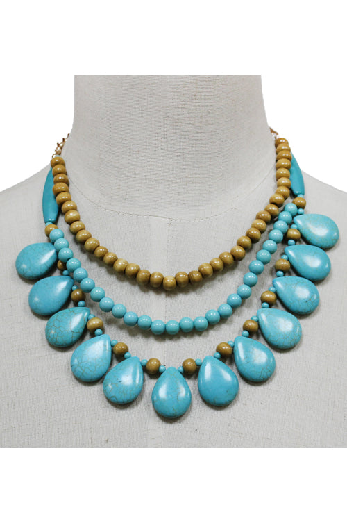 Beads Layered Necklace Set