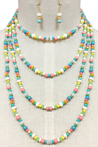 (3PCS) Mixed Layered Necklace Set