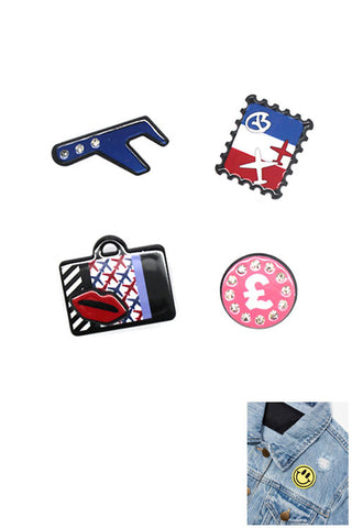 Fashion Acrylic Pin Set