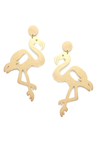 (3PCS) Flamingo Brass Post Earrings