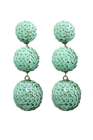 (6PCS) Sequin Ball Post Earrings