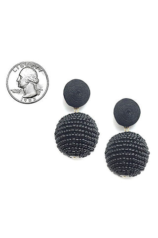 (12PCS) Thread Ball Earrings
