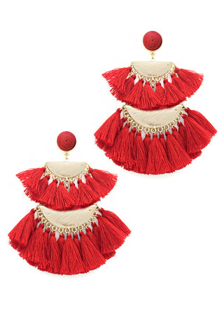 (3PCS) Tassel Drop Post Earring