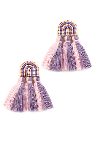 (3PCS) Tassel Post Earrings