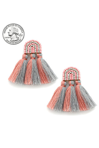 Tassel Post Earrings