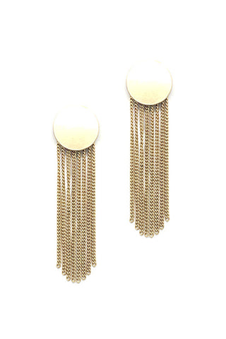 (3PCS) Metal Chain Tassel Post Earrings