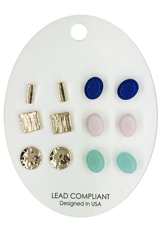 Fashion Multi Set Post Earrings