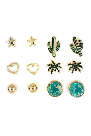 Tropical Concept Earring Set