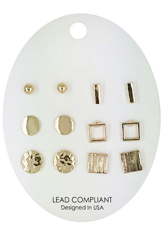 Six Pair Earring Set