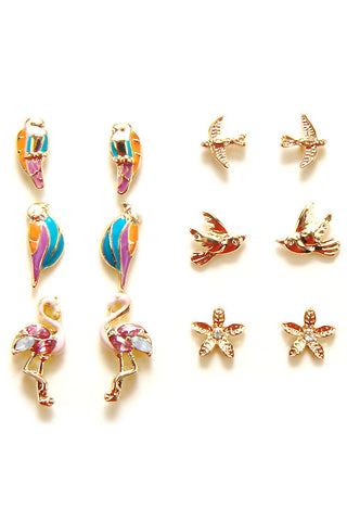 Fashion Post Earring Set