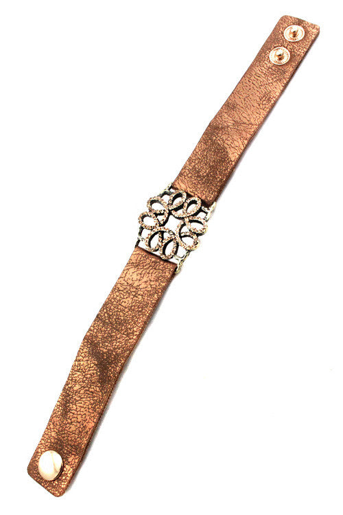 (5PCS) Faux Leather Bracelet