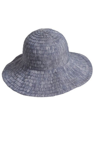 (3pcs) Heathered Ribbon Floppy Hat
