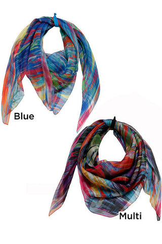 Tie Dye Ombre Brushed scarf
