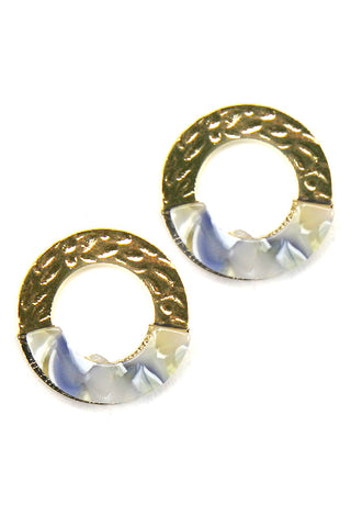 (6PCS) Circular Post Earrings