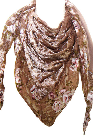 (3PCS) Crush Velvet Triangle Scarves