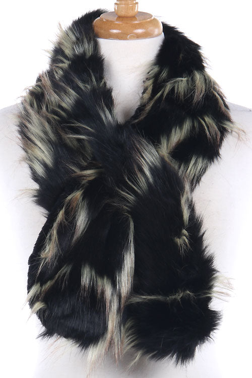 Adjustable Faux Fur Scarf