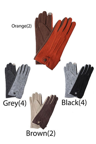 Classic Colored Blocked Gloves