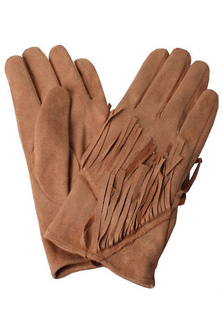 Faux Suede Fringes Gloves(12PCS)