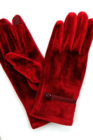 (3PCS) Solid Glove with One Button Trim