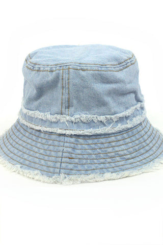 Distressed Jean Bucket Hat