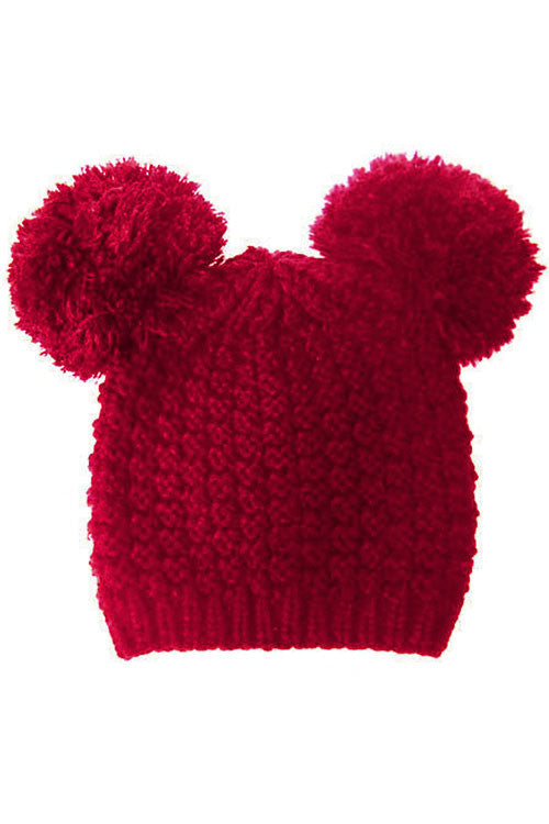 (12PCS) Big Pom Pom Knit Beanie