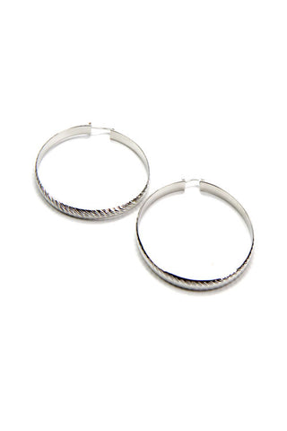 (3PCS) Metal Hoop Earrings
