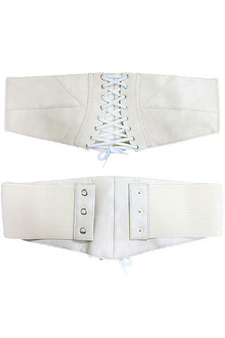 Faux Leather Corset Belt