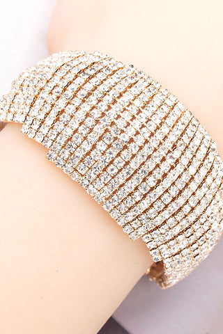 Rhinestone Diamond Band Bracelet