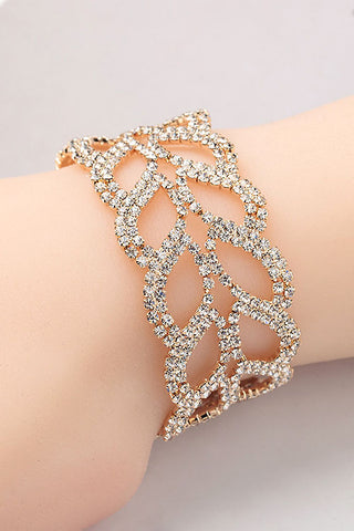 Laurel Wreath Rhinestone Bracelet
