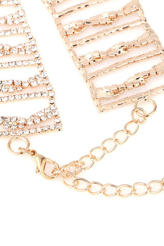 Rhinestone Twist Choker Necklace