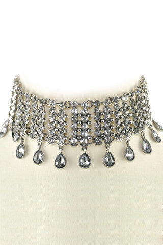 Edwardian Rhinestone Choker Necklace