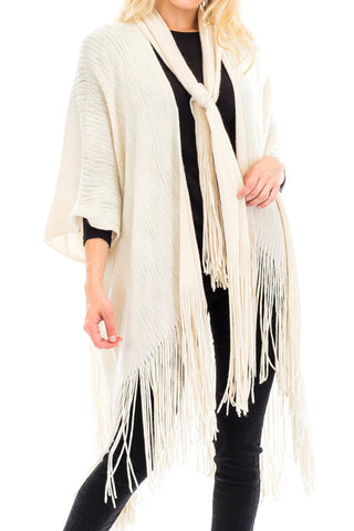Shawl Cardigan Style Scarf Attached