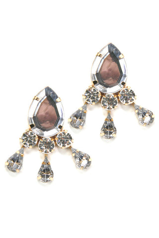 (3PCS) Rhinestone Tear Post Earrings