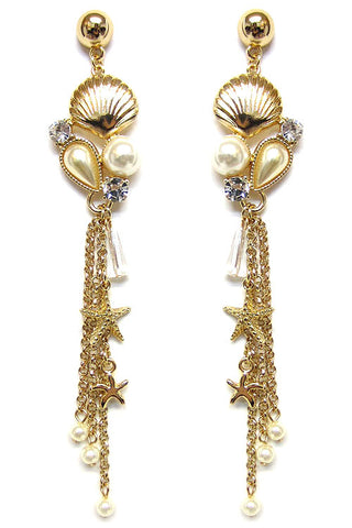 (3PCS) Statement Pearl Post Earrings