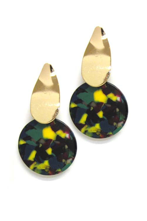 Celluloid Drop Post Earrings