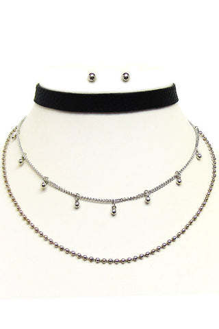 (2PCS) Multi Choker Necklace Set