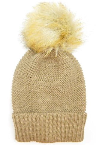 (12PCS) Big Pom Beanie Hat